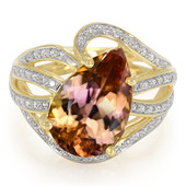 18K Pink Tanzanite Gold Ring