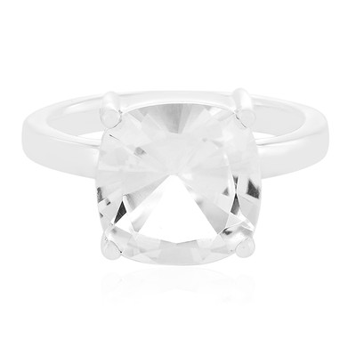 White Quartz Silver Ring