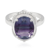 Bi Colour Fluorite Silver Ring