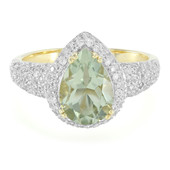 9K Rio Grande Green Amethyst Gold Ring