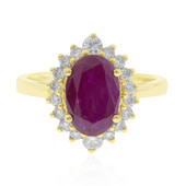 18K Burmese Ruby Gold Ring (CIRARI)