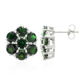 Imperial Chrome Tourmaline Silver Earrings