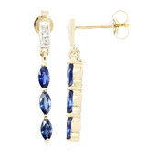 9K Burmese Sapphire Gold Earrings