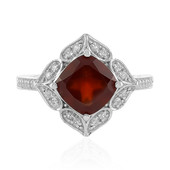 Hessonite Garnet Silver Ring