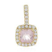 9K Morganite Gold Pendant