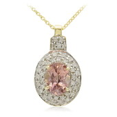 10K Pink Zircon Gold Necklace (Molloy)