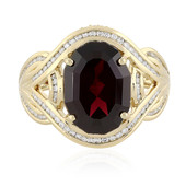 14K Raspberry Rhodolite Gold Ring (de Melo)
