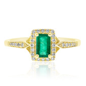 10K AAA Zambian Emerald Gold Ring