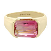 18K Brazilian neon tourmaline Gold Ring