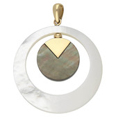 9K Mother of Pearl Gold Pendant