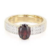 18K Red Zircon Gold Ring