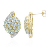 9K Sao Domingos Aquamarine Gold Earrings