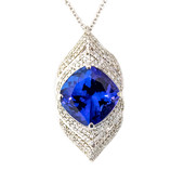 18K AAA Tanzanite Gold Necklace (de Melo)