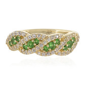 9K Tsavorite Gold Ring (Adela Gold)
