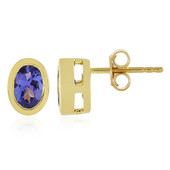 9K AAA Tanzanite Gold Earrings