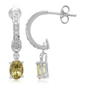 Yellow Tanzanite Silver Earrings