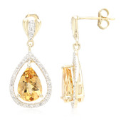 14K AAA Imperial Topaz Gold Earrings (Lance Fischer)