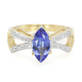 14K AAA Tanzanite Gold Ring (Lance Fischer)