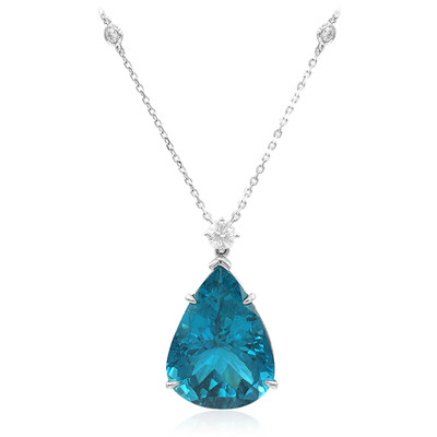 18K Neon Blue Apatite Gold Necklace (de Melo)