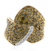14K SI1 Green Diamond Gold Ring (CIRARI)