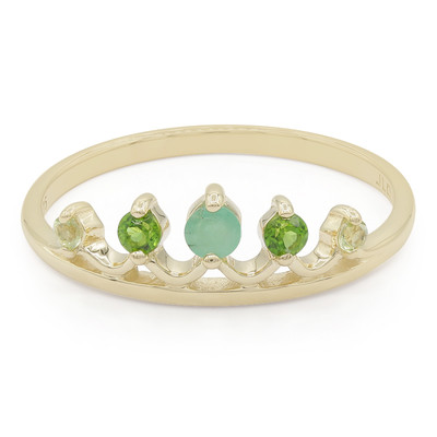 9K Emerald Gold Ring