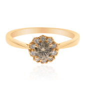 14K Chocolate Diamond Gold Ring