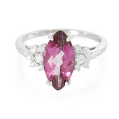 Grape Topaz Silver Ring