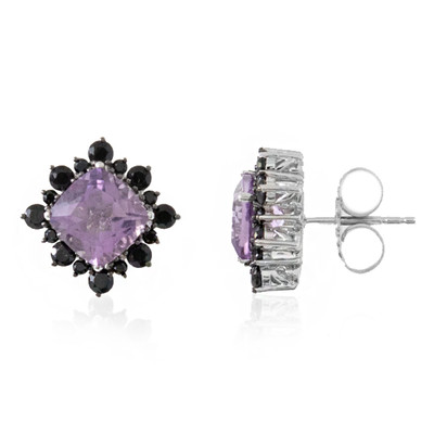 Rose de France Amethyst Silver Earrings (Dallas Prince Designs)