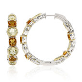 Lemon Citrine Silver Earrings (Dallas Prince Designs)