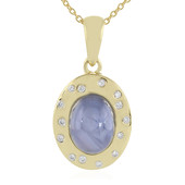 18K Blue Star Sapphire Gold Necklace