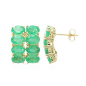 18K Sao Francisco Emerald Gold Earrings