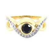 Black Spinel Silver Ring