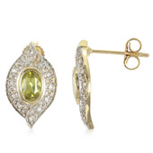 9K Capelinha Sphene Gold Earrings