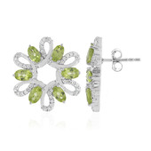 9K Peridot Gold Earrings