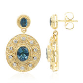 London Blue Topaz Silver Earrings (Memories by Vincent)