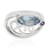Sky Blue Topaz Silver Ring (MONOSONO COLLECTION)
