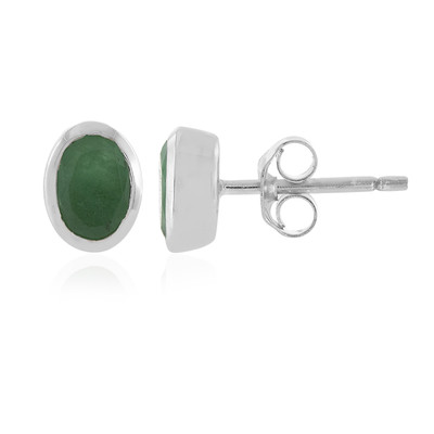 Socoto Emerald Silver Earrings