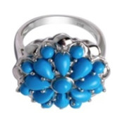 Turquoise Silver Ring (M de Luca)