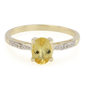 9K Neon Danburite Gold Ring