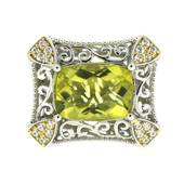 Ouro Verde Quartz Silver Ring (Dallas Prince Designs)