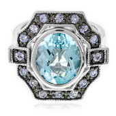 Sky Blue Topaz Silver Ring (Memories by Vincent)
