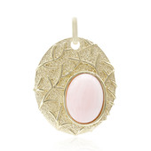 Pink Opal Silver Pendant (MONOSONO COLLECTION)