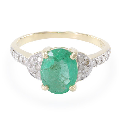 9K Sao Francisco Emerald Gold Ring