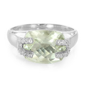 Green Quartz Silver Ring (Cavill)