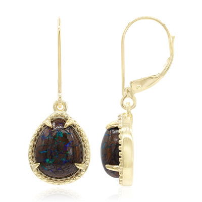 9K Boulder Opal Gold Earrings