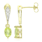 Cuprian Tourmaline Silver Earrings (Cavill)