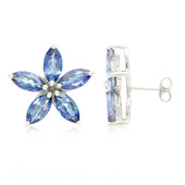 Mystic Blue Topaz Silver Earrings