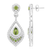 Peridot Silver Earrings (Memories by Vincent)