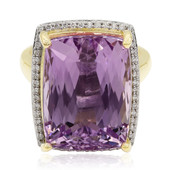 9K Patroke Kunzite Gold Ring