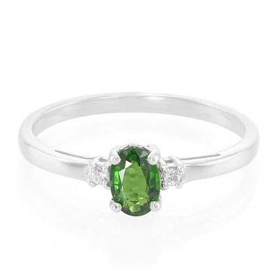 Chrome Tourmaline Silver Ring